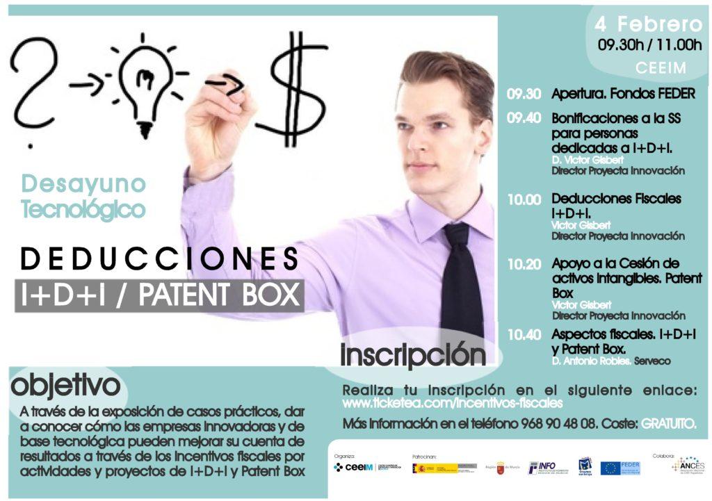 Jornada sobre Patent Box y deducciones fiscales y bonificaciones a la I+D+i