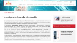 Novedades CCEA ENAC certificación proyectos I+D+i